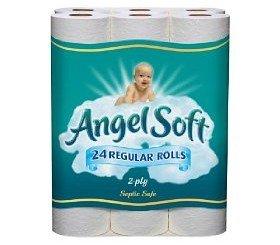 Amazon Com Angel Soft Toilet Paper Bath Tissue 24 Regular