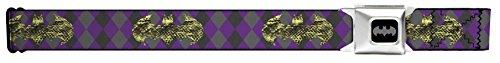 Batman DC Comics Superhero Argyle Snake Skin Logos Seatbelt Belt