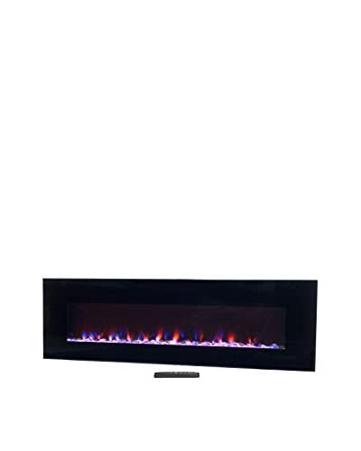 Northwest 54″ LED Fire & Ice Electric Fireplace with Remote, Black