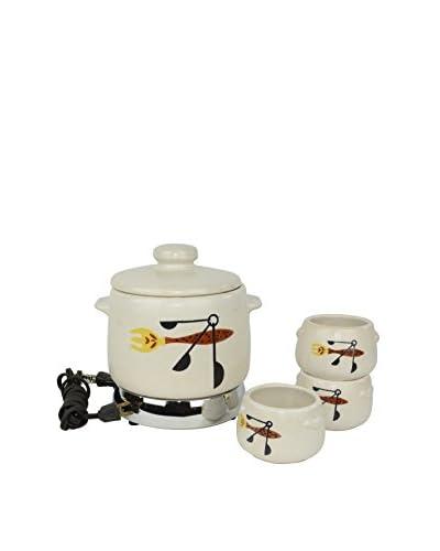 Uptown Down 1960s West Bend Ceramic Crockpot Set