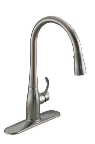 KOHLER K-597-VS Simplice Pull-Down Secondary Faucet, Vibrant Stainless