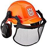 Husqvarna 577764601 Pro Forest Helmet System with Visor/Hearing Protection (Color: Orange, Black, Tamaño: 1)