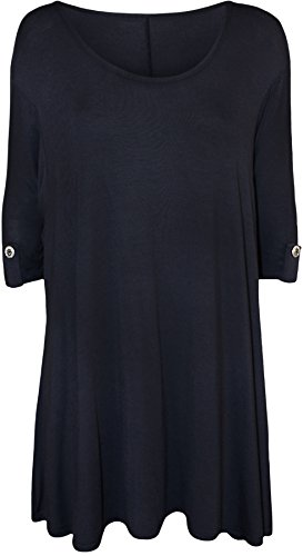 womens-plus-size-flared-donna-lungo-manica-scoop-collo-breve-misure-14-28-navy-blue-48