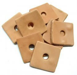 Zoo Max DUS230 Leather Squares 2x2in 10 pieces for Bird Toys