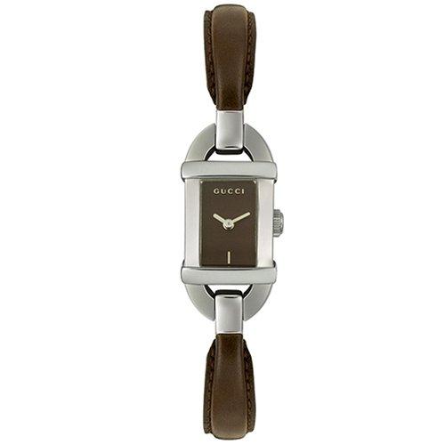 Reloj Gucci 6800 YA068505 Mujer Acero y piel marrón