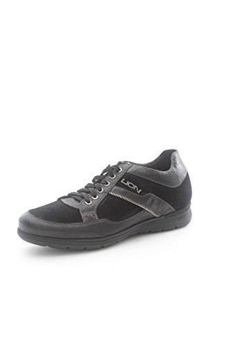 Lion 11221 Sneakers Uomo Camoscio Nero Nero 42