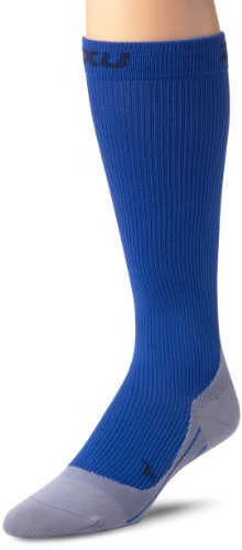 2XU 2XU Men's Compression Race Sock (Blue/Grey, Medium)