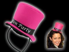 Hen Party - Mini Pink Top Hat on Headband