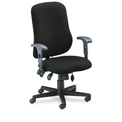 Mayline 4019AG2113 - Comfort Series Contoured Support Chair, Acrylic/Poly Blend Fabric, Black