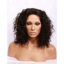 """12"""" Curly #1B Lace Front Wigs 100% Indian Remy Human Hair"""