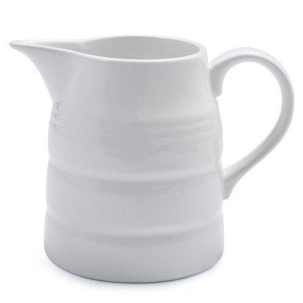 Sur La Table Ribbed Porcelain Pitcher AP0091-PIT-L , 67 oz. (White Ceramic Pitcher Vase compare prices)