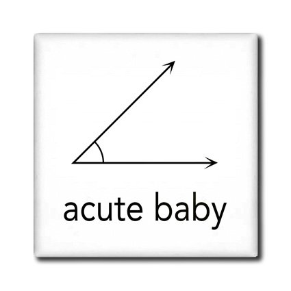 Ct_123039_4 Evadane - Baby Newborn Quotes - Acute Baby. Geometry. Math Humor - Tiles - 12 Inch Ceramic Tile front-235547