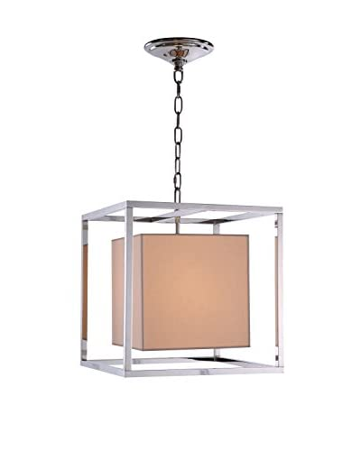 Urban Lights Quincy 1-Light Pendant Lamp, Polished Nickel