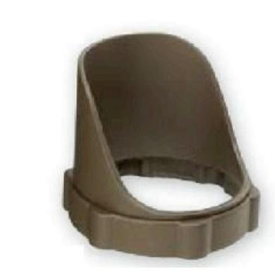 Kichler Lighting 15702Aztp 3.25-Inch Dia. Polycarbonate Short Cowl, Textured Architectural Bronze
