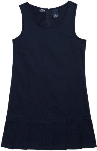 French Toast School Uniforms Pleated Hem Jumper Girls Navy 3T front-434642