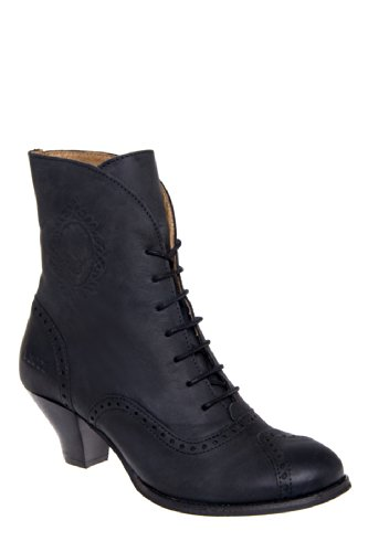 Dkode Quenby Low Heel Lace Up Vintage Bootie