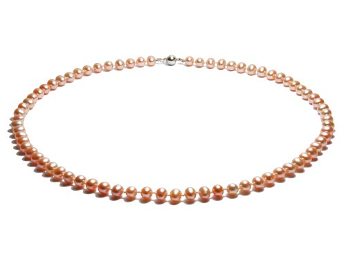 Peach - Natural Color Pearl Necklace