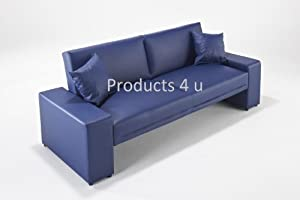 Supra Sofabed Navy Blue Faux Leather Sofa Bed Amazon Kitchen & Home