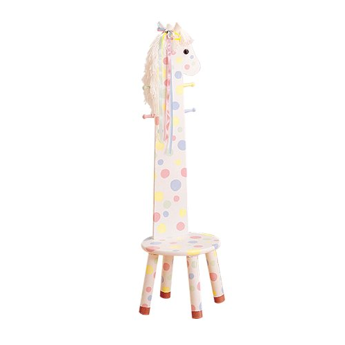 Why Choose The Teamson Kids Pony Stool with Coat Rack - Safari Animal Collection