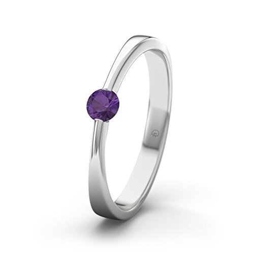 21DIAMONDS Women's Ring Maisie Engagement Brilliant Cut Ring - Silver Engagement Ring