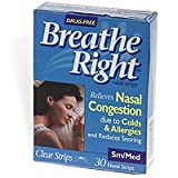 Breathe Right Small/Medium Clear Nasal Strips, 30 ct