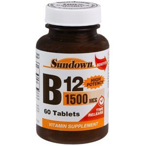 Special Pack Of 5 Sun Down Vitamin B-12 1500 Mcg Tr 60 Tablets