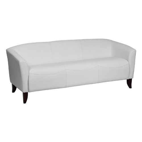 Hercules Imperial Series Leather Sofa White