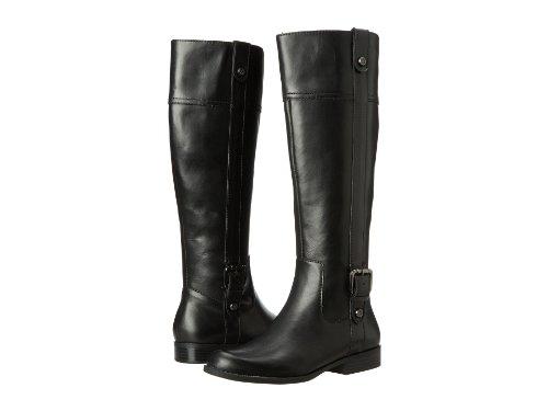 Ak Anne Klein Women'S Ciji Riding Boot, Black Leather, 8.5 M Us