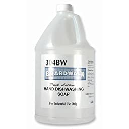 Boardwalk Liquid Dish Soap, Neutral, 1gal, Bottle - four bottles.