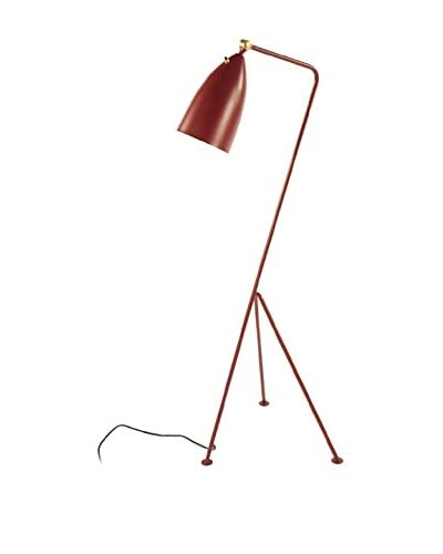 Control Brand The Grasshopper 1-Light Floor Lamp, Red