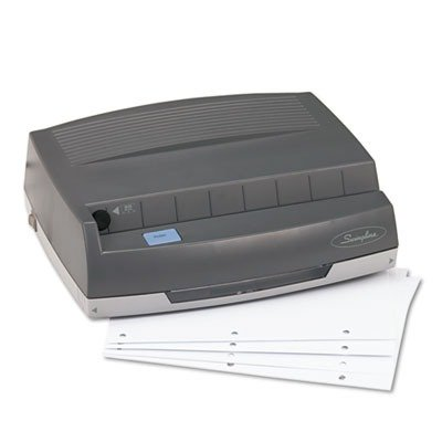 Electric 3-Hole Punch, Med Duty, 50 Sht, 13 quot;x10-5/8 quot;x4 quot;, GY (3 Hole Puncture compare prices)