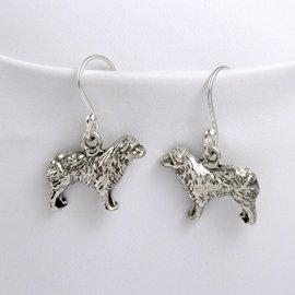 Australian shepherd Sterling Silver Earrings