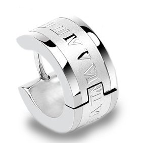 jewellery-sleuth-single-surgical-steel-huggie-hoop-hinge-mens-earring-with-roman-numeric-engrave