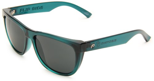 Electric Visual Flipside Round Sunglasses,Midnight Green Frame/Grey Lens,One Size