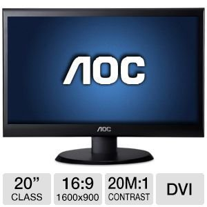 AOC e2050Swd 20-Inch Screen LED Lit Monitor