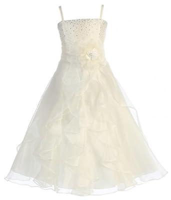 573678d5bda Kids Dream Rose Sequin Double Mesh Flower Girl Dress Little Girl 2T-14