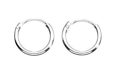 Sterling Silver 10mm Hinged Mini Sleeper Earrings