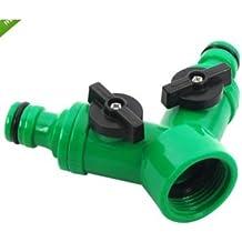 Screw Hose Pipe Splitter 2 Way Connector Adaptor Garden Tool Quick