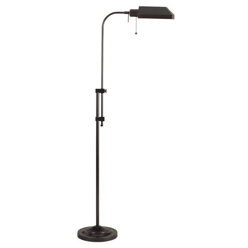 Cal Lighting Bo-117Fl-Db 100-Watt Adjustable-Height Pharmacy Floor Lamp, Dark Bronze