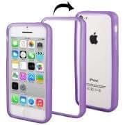 Anti-skid TPU Bumper Frame for iPhone 5C (Purple)