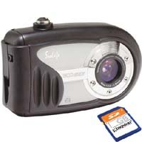 Sealife SL321 ECOshot 6.0MP Digital Camera with 4x Digital Zoom (Rated to 75') with 1 GB SD Card