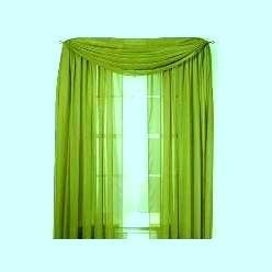 Amazon com lime green 60 quot wide x 216 quot long sheer window scarf