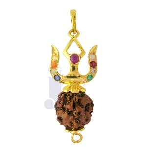 RUDRAKSHA DIAMOND PENDANT | Color Multicolour