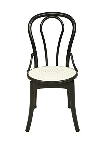 Supreme Pearl Cane Set of 4 Chairs (Black)