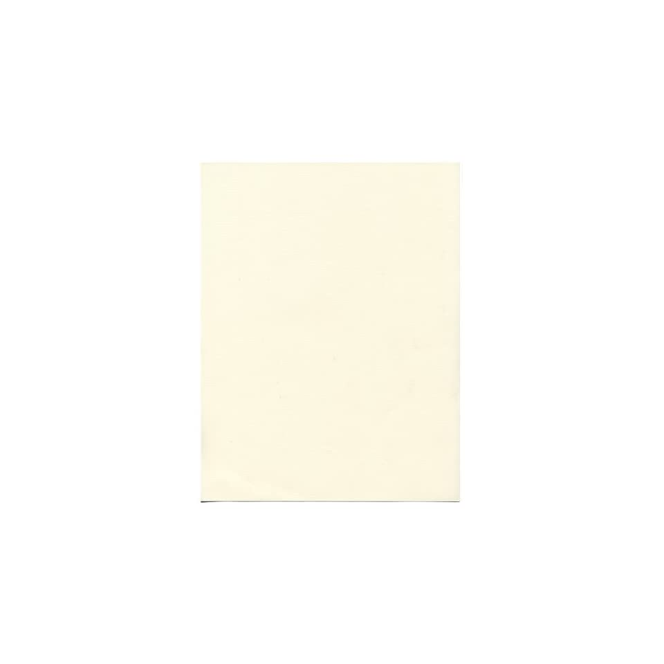 8 1/2 x 11 Strathmore Natural White Linen 80lb Cover Cardstock   30% recycled   50 sheets per pack  Cardstock Papers
