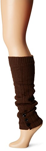 Steve Madden Legwear Women's Button Leg Warmer, Chocolate, One Size (Steve Madden Rain Boots For Women compare prices)