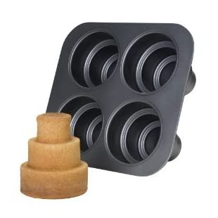 Chicago Metallic Multi Tier Cake Pan- 4 Cavity