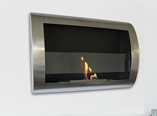* Be destroyed Sale * Charleston Luxury Stainless Steel Wall Mount Ventless Bio Ethanol Fireplace with Burner Put 100% Satisfaction Guaranteed