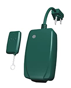 Westinghouse 28070 Outdoor Wireless Remote Control with Key Chain Transmitter, 6-Inch Cord, Green