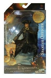 Pirates Of The Caribbean On Stranger Tides Action Figure, Series 2, (SPANISH OFFICER)